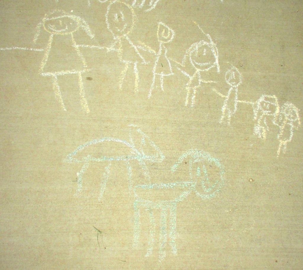 Family in Chalk
