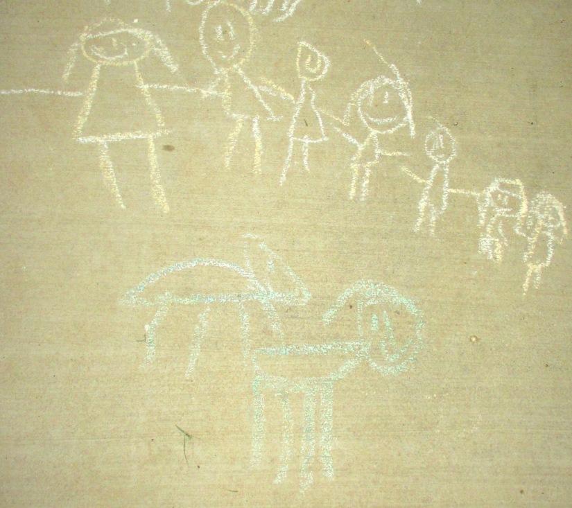 Family in Chalk